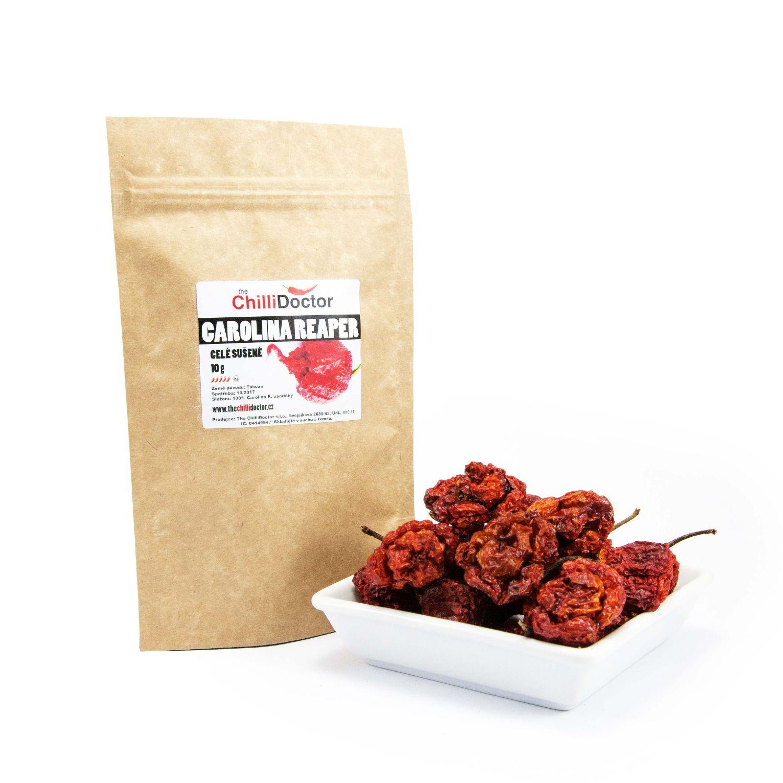 The ChilliDoctor s.r.o. Carolina Reaper celé sušené chilli papričky 10 g