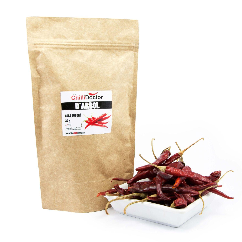 The ChilliDoctor s.r.o. Sušené chilli papričky D'Arbol 30 g