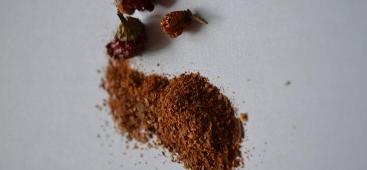 Sušení a mletí chilli