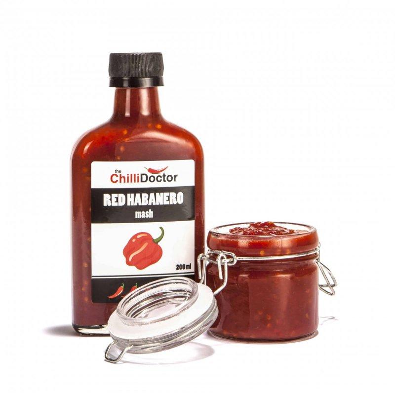 The ChilliDoctor s.r.o. Red Habanero mash se semínky 200 ml